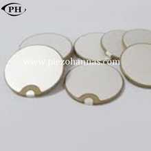 50mmx3mm polarity resonant frequency piezo discs with P5 material