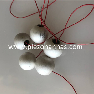 500 KHz Piezoelectric Sphere Focusing Transducer Crystals for Hydrophone